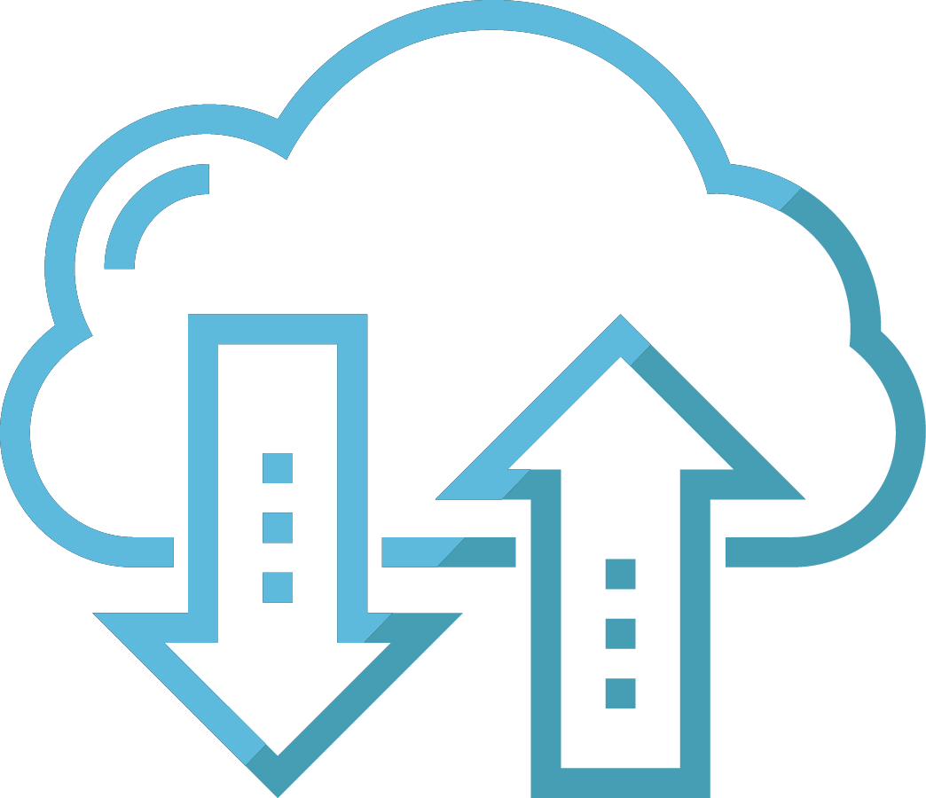 Technology cloud icon